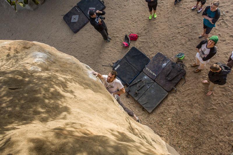 Rock Climbing Photo: Nick on Master