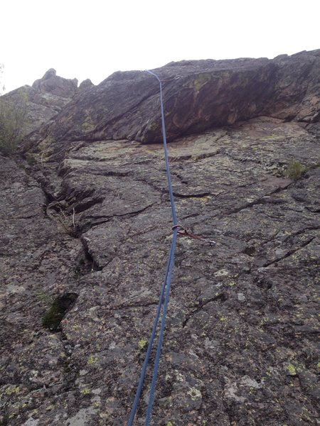 Rock Climbing Photo: A better photo of the start of the route.  Draws a...