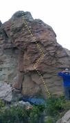 Rock Climbing Photo: Beat the Champ.