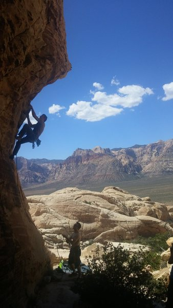 Getting ready for the crux move