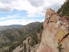 Rock Climbing Photo: Near the top....