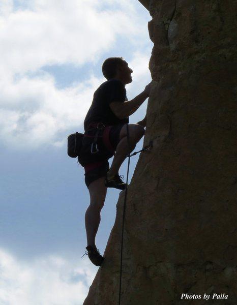 Simon climbing on 5/2/15