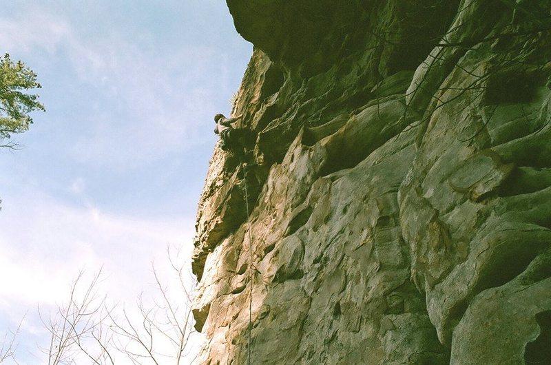 Rock Climbing Photo: under the gun