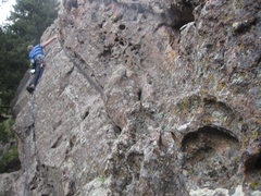 Rock Climbing Photo: Heading across the slots and huecos on Better Than...