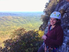 Rock Climbing Photo: At the first pitch of White Lightning at Table Roc...