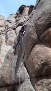 Rock Climbing Photo: Mike Endicott searching for gear placements, May 3...