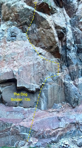 Rock Climbing Photo: The Dog Soldier 5.13b