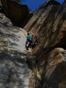 Rock Climbing Photo: Trad climbing at Start Mountain, TN