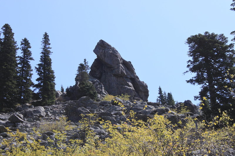 View of the downhill side of the SW Pinnacle