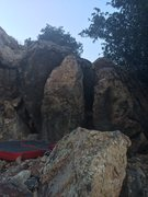 Rock Climbing Photo: All of the Trinity Force boulders side by side. Fr...