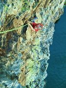 "Rock Climbing Photo: Young Zion climbs the beautiful ""Pirates of t..."