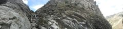 Rock Climbing Photo: Panoramic of the entire gully that is Industrial W...