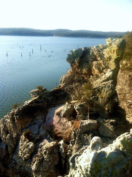 Rock Climbing Photo: Backside bowl of the Lighthouse