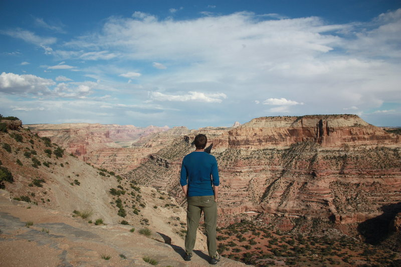 In true awe at 'Little Grand Canyon'