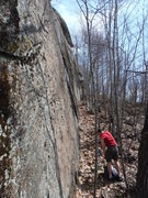 Rock Climbing Photo: Right side of the cliff, where all the mysterious ...