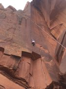 Rock Climbing Photo: What an outstanding climb! Great crack for all han...