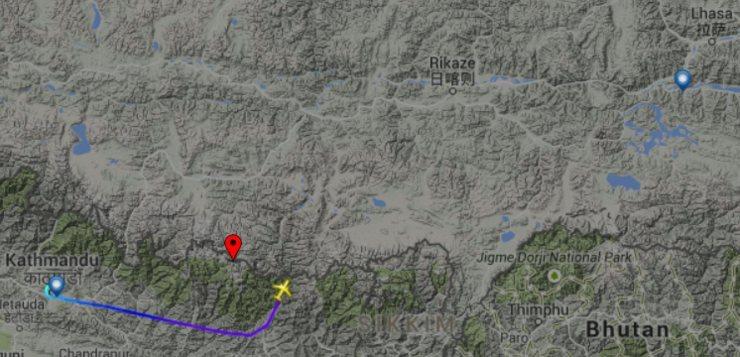flight from kathmandu to lhasa