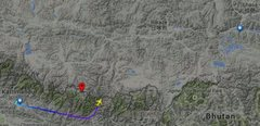 flight from kathmandu to lhasa