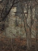 Rock Climbing Photo: As seen from the KT Trail. The route goes to a sma...