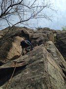 Rock Climbing Photo: Craig Kenyon starting up The Crain