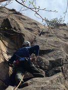 Rock Climbing Photo: Craig pondering the Crux