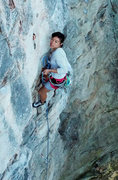Rock Climbing Photo: Approaching crux.