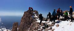 Rock Climbing Photo: shasta summit party