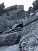 Rock Climbing Photo: Begins from blocks down low, but the money is thro...