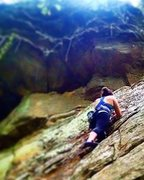 Rock Climbing Photo: My first outdoor lead! The very approachable 5.6, ...