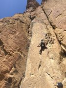 Rock Climbing Photo: fantastic route! my first 5.8 trad lead and will d...