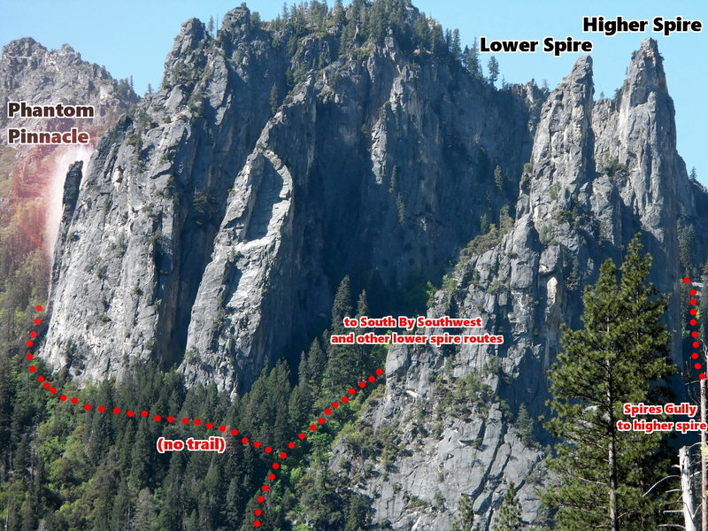 Rock Climbing Photo: Approach beta for Phantom Pinnacle