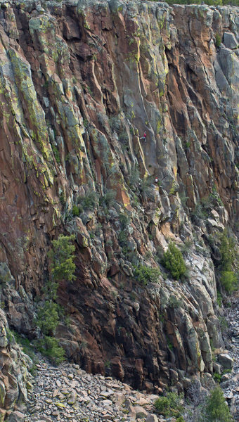 Rock Climbing Photo: Clay, leading up Lost Highway on a beautiful April...