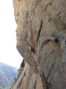 Rock Climbing Photo: This is the beginning of the climb, following the ...