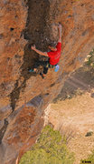 Rock Climbing Photo: James blasting thru the black streak Once Upon a T...