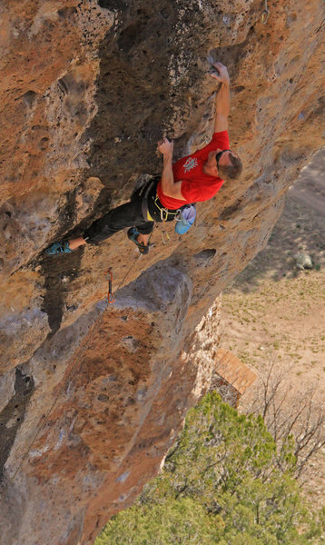 Wrestling with the steep finish<br> Once Upon a Time (5.11c)