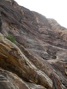 Rock Climbing Photo: Location of the Pitch 2 chains (climbers) as seen ...