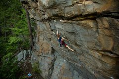 Rock Climbing Photo: Pulling through the crux of Absolut. Photo by Tyle...