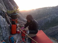 Rock Climbing Photo: 12 o' clock ledge bivy