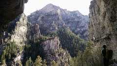 Rock Climbing Photo: the view from the decades alcove, you can see into...