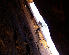 Rock Climbing Photo: Above the small roof on pitch 3