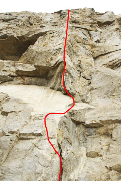 Rock Climbing Photo: Route Map