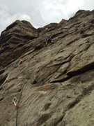 Rock Climbing Photo: Leading Wild Bore