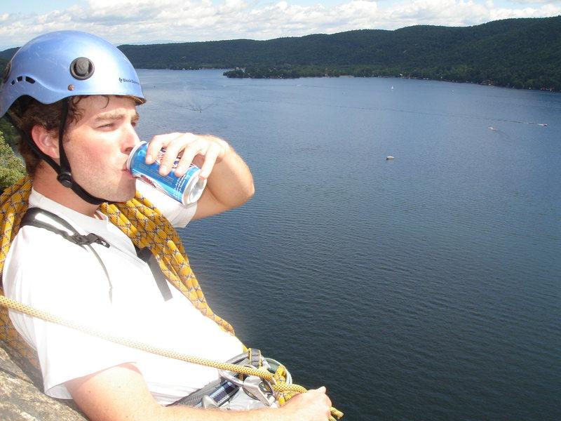 Rock Climbing Photo: Bro's chillin' above Rogers Rock, ADK's.