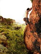 Rock Climbing Photo: Climbing to the top in the Kullen sectors of Geyik...