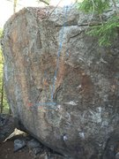 Rock Climbing Photo: This photo shows the starting hold and general lin...
