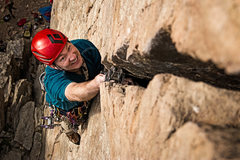Rock Climbing Photo: Perin protecting the off section.  Canon 6D Ziess ...
