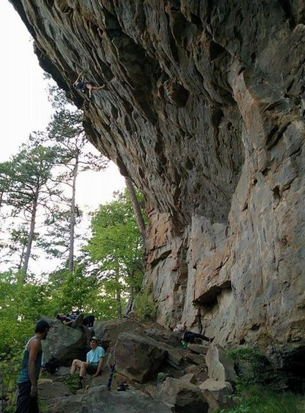 One of the steepest walls in Arkansas!