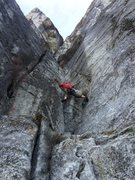 Rock Climbing Photo: pitch 1 corrugation