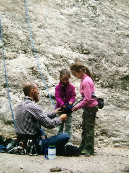 Rock Climbing Photo: The next generation...Ray Weber with his daughters...