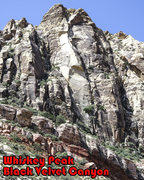 Rock Climbing Photo: The central portion of Whiskey Peak.